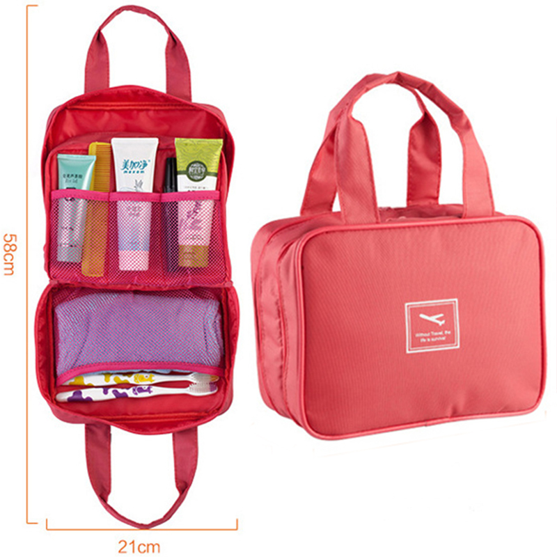 Holiday Travel Use Large Capacity Multifunctional Cosmetic Tote Bag Travel Makeup Bag Toiletry
