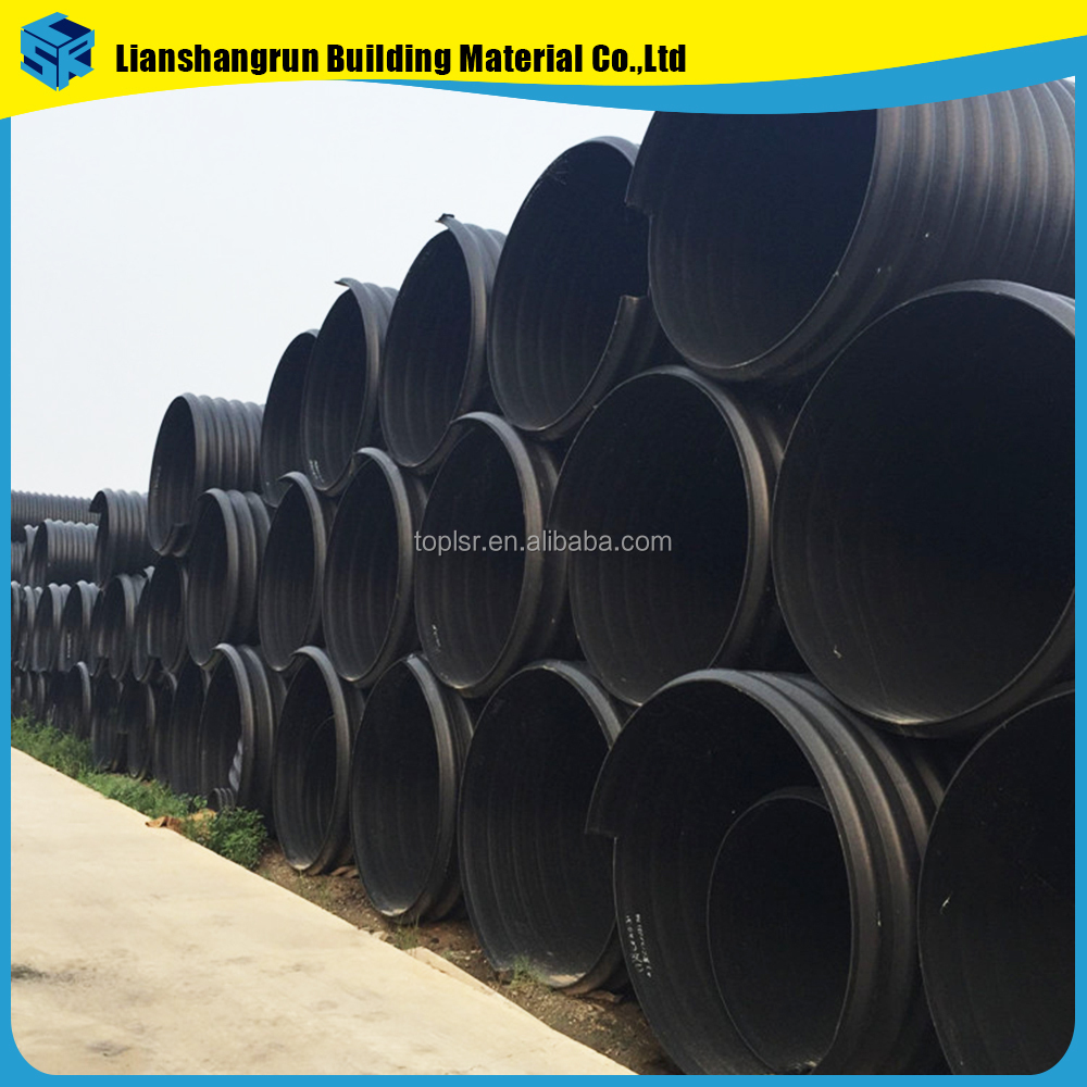 Long Life Span Hdpe Belt Reinforced Spiral Corrugated Pipe