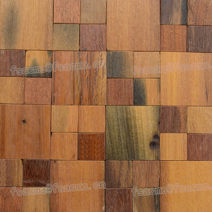 Natural Madera Viejo Barco Mosaico Para La Pared Interior Y La Pared ...