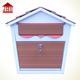 JHC-2014W home wooden mailbox/wood letter boxes for handmade/ wood letterbox galvanized steel