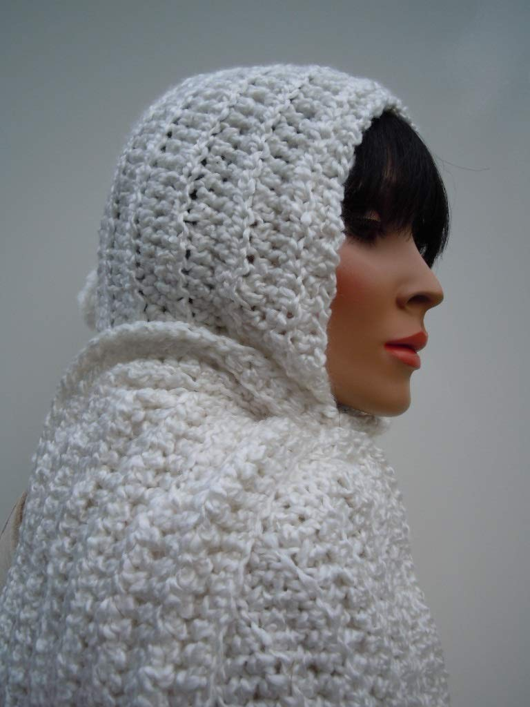 6931bcc972c Get Quotations · Snow White Hooded Scarf