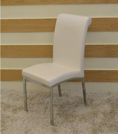 Venta al por mayor sillas comedor tapizadas en cuero blanco-Compre ...
