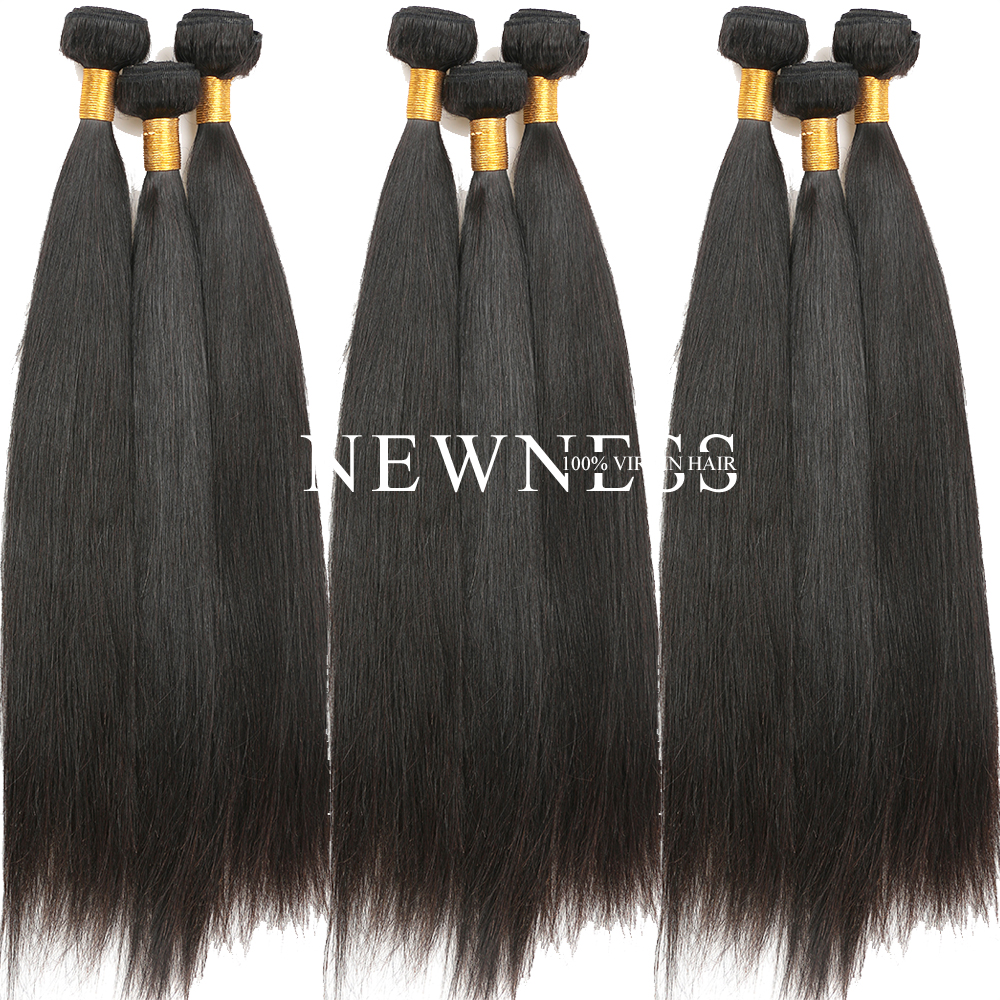 100 % Raw bresilienne human hair weaving kinky straight hair extensions