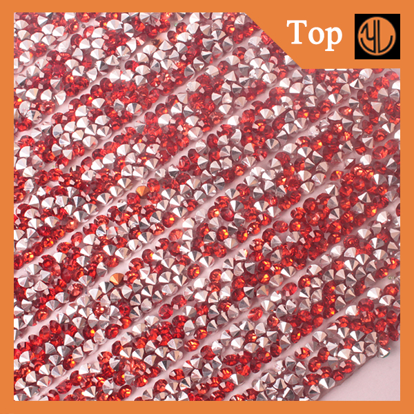 Wholesale 3mm Resin Stones Hot Fix Mesh Sheet for Garments Accessories