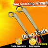 Non spark copper alloy safety hexagonal /octagonal , ring spanner spud type constrction wrench bent handle , pin end