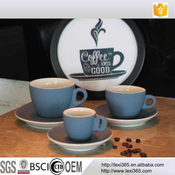Various Sizes Blue Ceramic Coffee Cup