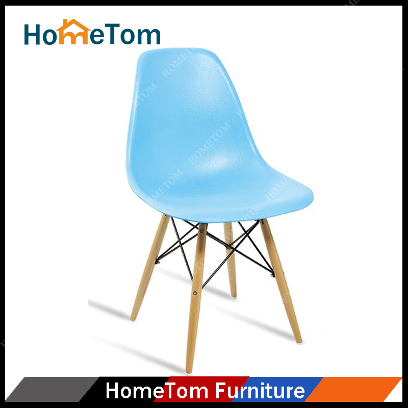 Cheap Beech Wood Legs Plastic Seat Dining Restaurant Chair