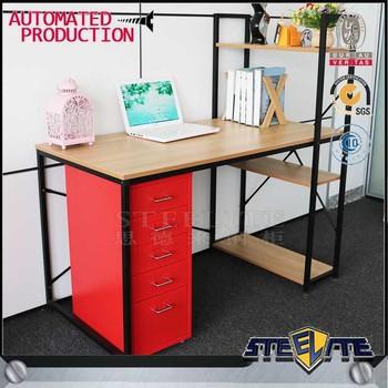 2018 Modern Corner Computer Desks Sit Stand Desk Pc Desk With Book Shelving  - Buy Corner Computer Desks,Sit Stand Desk,Pc Desk With Book Shelving ...