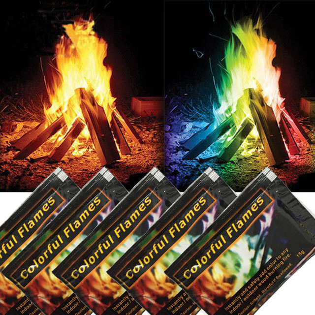 Metal Color Flame Magic Fire Colorful Campfire Fireplace Powder Bonfire Party