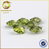 hot sale Russia diamond double checker board cut small cz gem stones peridot