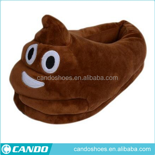 Cute Poop Shaped Warm Soft Shoes Plush Stuff Indoor Slippers Plush Doll Toy Funny Gifts