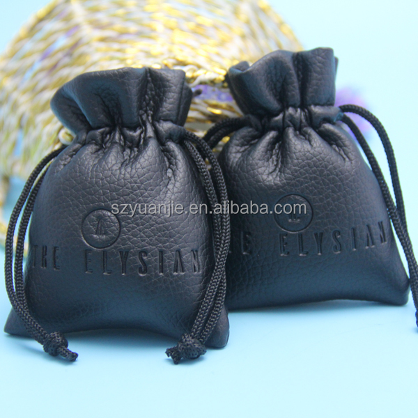 PU leather material customised cosmetic pouch with mirror