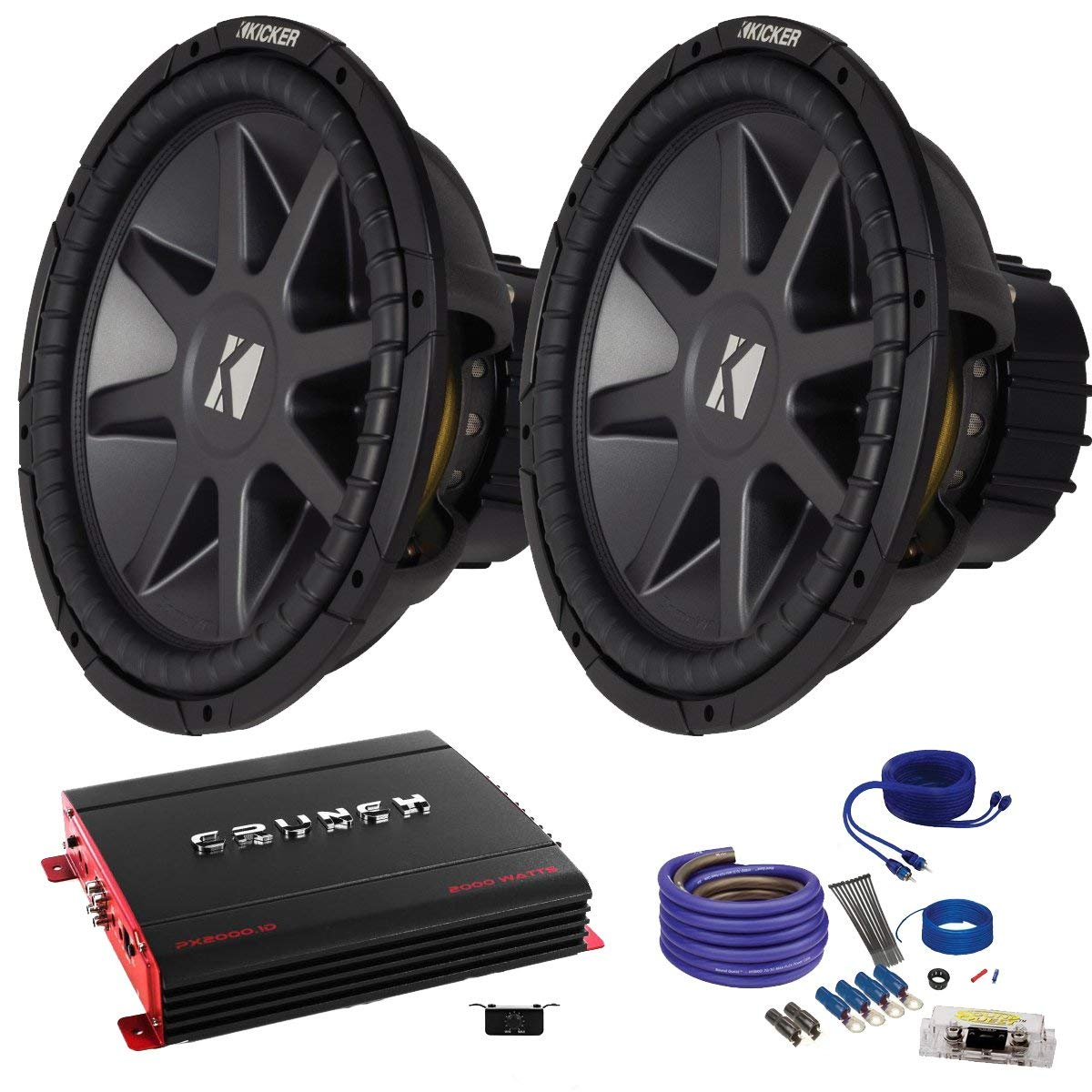 Cheap 2 Kicker 15 Find Deals On Line At Alibabacom Wiring Kits For Subs Get Quotations Cvr152 Bundle With Crunch Px20001d 2000 Watt Max Mono Amp
