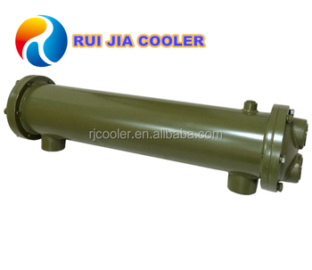 Stainless tube shell heat exchanger for hydraulic oil coolers water condenser