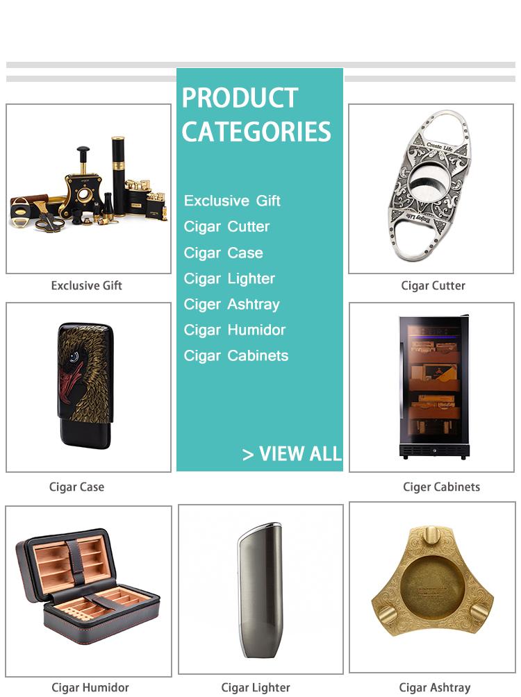 Luxury Cigar Smoking  Accessories Set Cigar Case Cutter And Lighter  Box Classical Corporate Business Men Cigar Gift Set