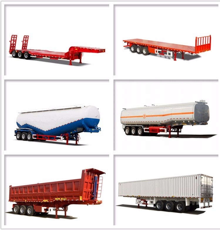 New 3 axle dry food transport van type box semi trailer for sale