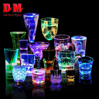 New Products Christmas Party Decoration Best Selling Light Up Glowing Colorful Cheap Popular Plastic Flashing Led Cup