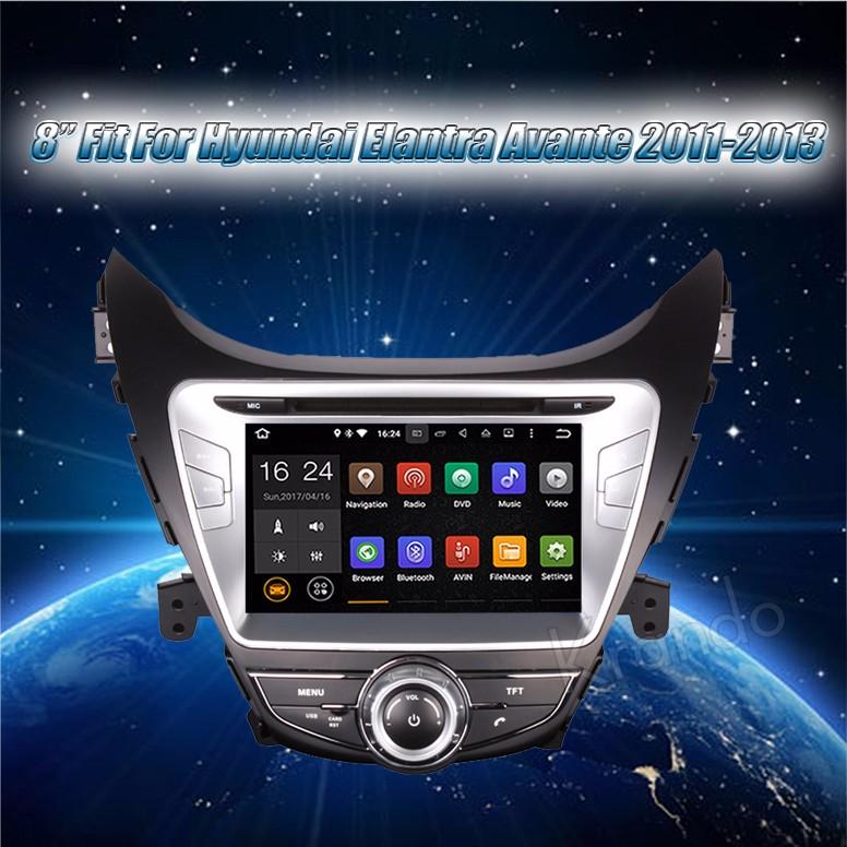 Krando Android 7 1 Car Radio For Hyundai Elantra 2011-2013 Gps Navigation  Multimedia System Dvd Player Wifi 3g Bt Dab+ Kd-hy811 - Buy For Hyundai