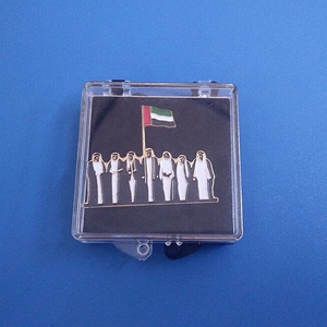 UAE Stock Gifts 7 Emirate and UAE National Days Items Shape Metal Badge with acrylic box instock