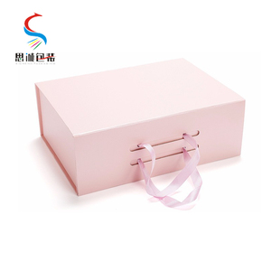 pink box gift packaging box custom logo gift paper box
