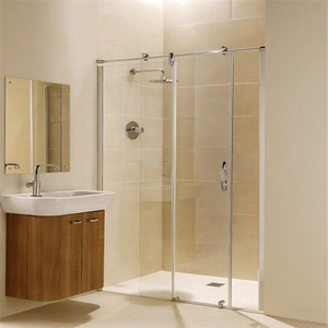 high quality foshan factory supplied sided glass shower