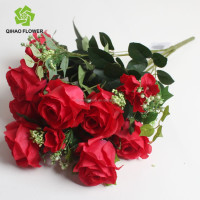 wedding fake plastic silk artificial flower bouquet