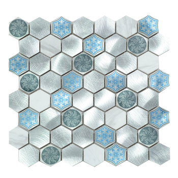 Aluminium Keramik Stein Dekorative Wand Hexagon Bad Fliesen Mosaik