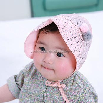 6dd3b0f6fb4 Pretty newborn Baby Girl Infant Newborn Kids princess Hat Cap Beanie Hot  summer baby Hats Caps