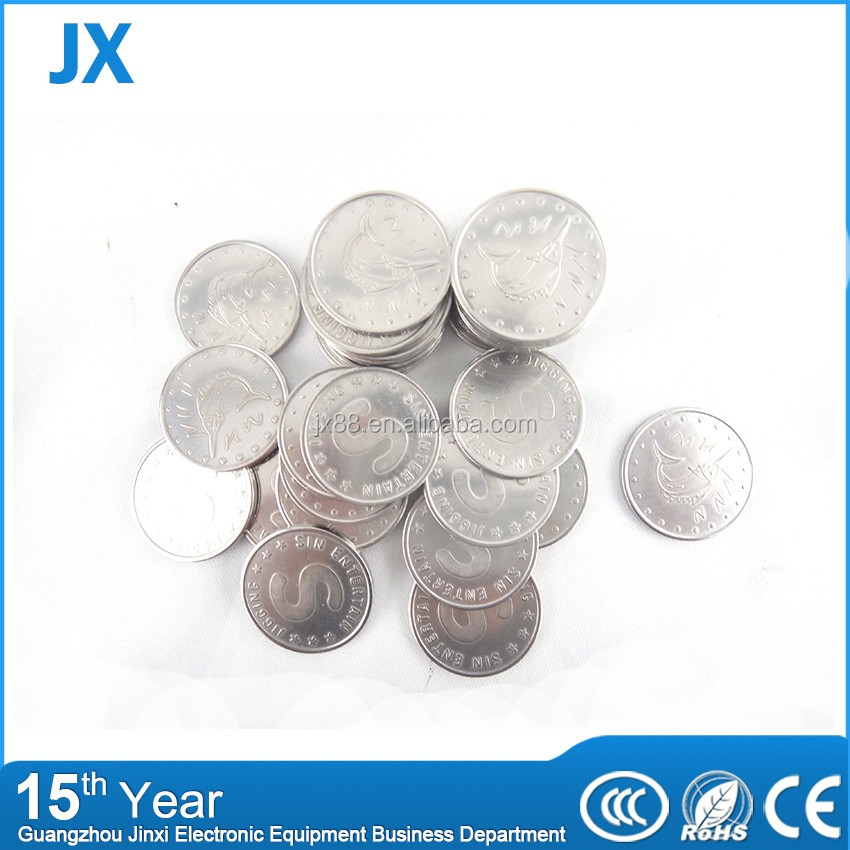 shenzhen Wholesale price of laundry amusement custom arcade game token coin metal game coins for vending machine token