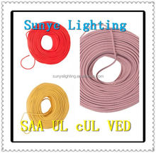 Textile cord with lamp holder,switch,3.5 mm rubber plug