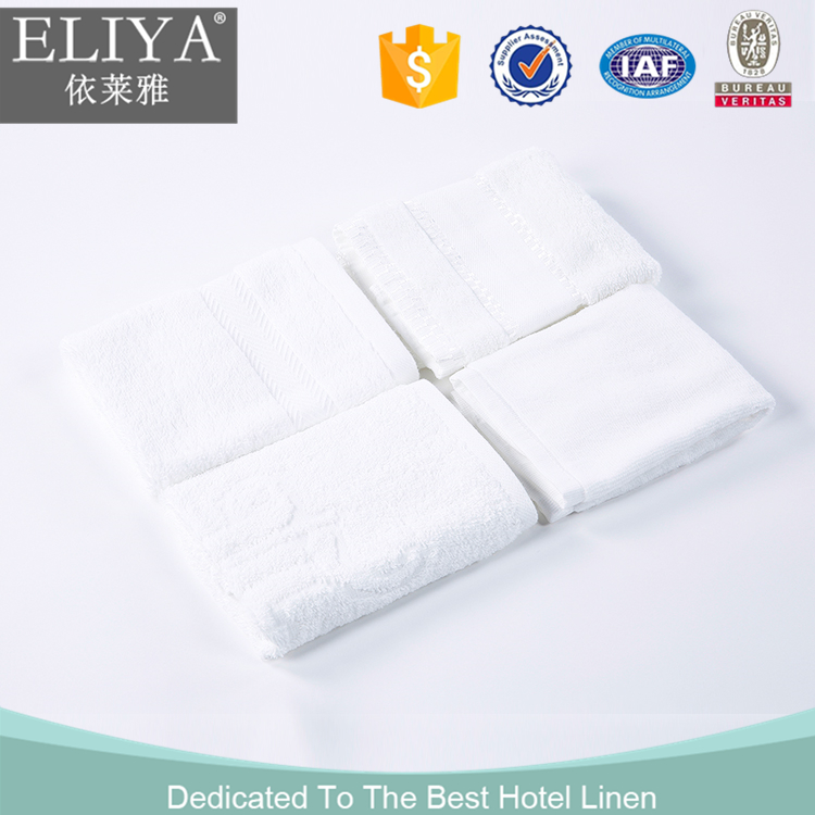 Gold supplier high quality luxury china factory 100% cotton embroidered dobby hotel towel