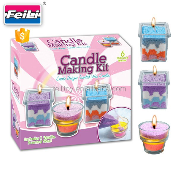 Best seller candle making kit with 3 glass cup creative for Craft kits for kids in bulk