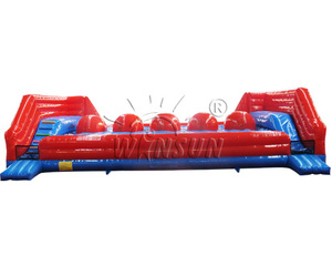 big baller interactive inflatable game,interactive games outdoor inflatable big baller wipe out game
