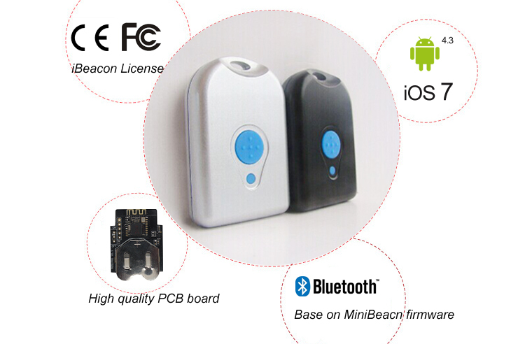 BLE 4 0 Bluetooth Low Energy Module nRF51822 iBeacon with waterproof  Casing, SDK for iOS and Android, View ibeacon, Minew Product Details from