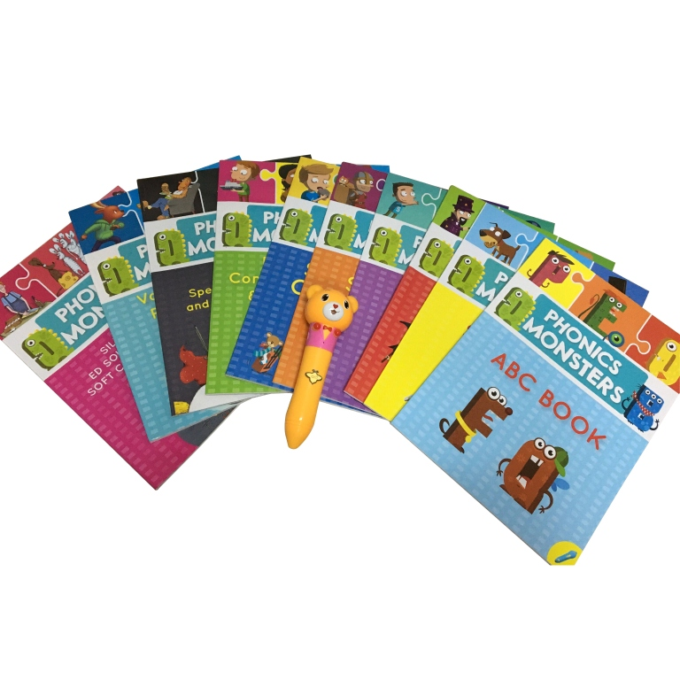Language Learning Children Reading Pen and Best Selling English Book Mosa and Nasa's Big Jump Cil and Phonics Monster