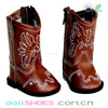 Beautiful brown embroidery 18 inch American girl doll boots