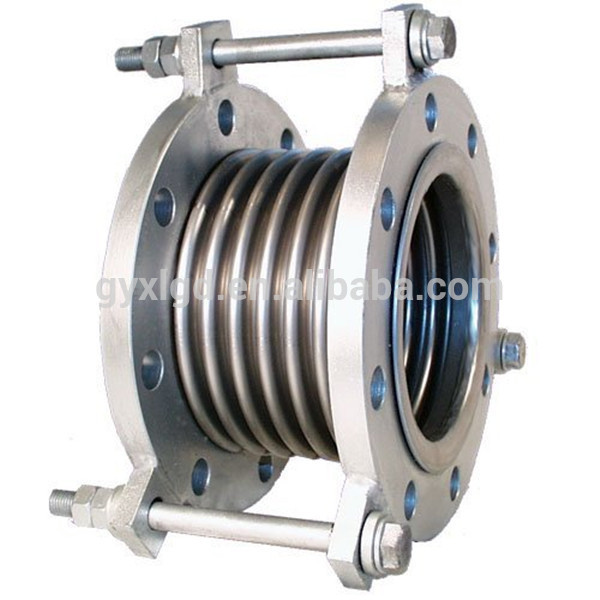Stainless steel expansion joint for gas pipework flexible