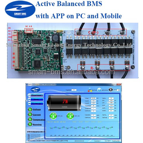 Active Bms With Software App Rechargeable Battery 16s 60a Smart ...