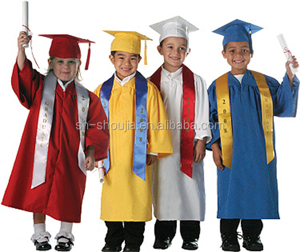 Children's / Kids Graduation Gown And Hat Set - Buy Kids ...