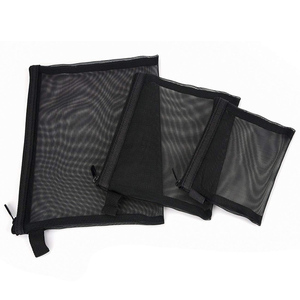 Zipper Mesh Pouch Makeup Cosmetic Accessories Organizer Travel Toiletry Kit Set Storage Pouch