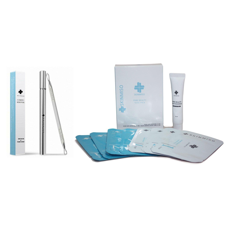 [SET] SKINMISO Blackhead & Pore Beauty Nose Mask Pack 3 Step System (4 Weeks Program) + Comedo Blackhead Remover