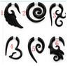 Best Selling Black Acrylic Ear Expander Piercing Wholesale Different Shape Ear Stretchres Jewelry