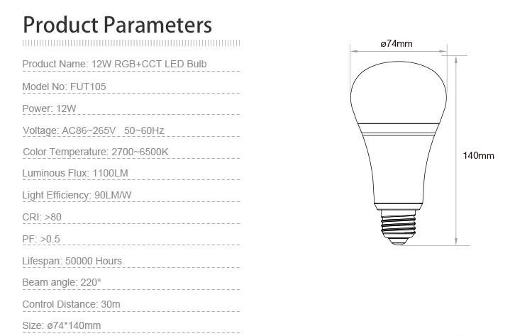 Tinggi daya 12 w rgb kelvin disesuaikan dari 2700 k 6500 k cct lampu rgb warna cct ccuart Image collections