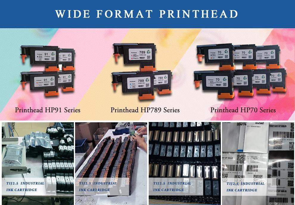 Novo compatível cabeça De Impressão Remanufaturados 789 CH613A Ciano/Luz Cabeça De Impressão Ciano para L25500