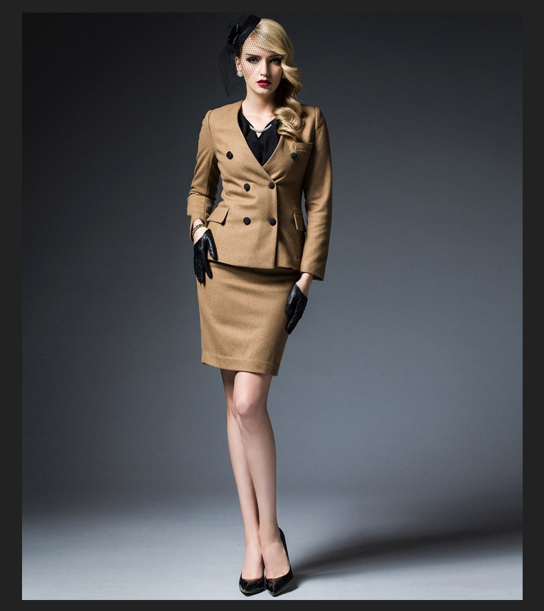 25d586770a5 Tailor Made Fahion Design Ladies Solid Color Double Breasted Jacket&skirt  Suit - Buy Ladies Skirt Suit,Fashion Skirt Suit,Tailor Made Skirt Suit ...