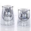 Cheap Price Mercury Glass Candle Holders Silver Cone Shaped Glass Hanging Candle Holder