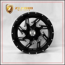 ZUMBO-A0094 Semi Matt Black Mill Spoke Car Aluminium Alloy Wheel Rims