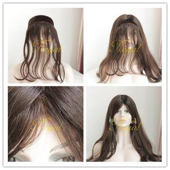 European Hair Lace Front Headband Hair Wig