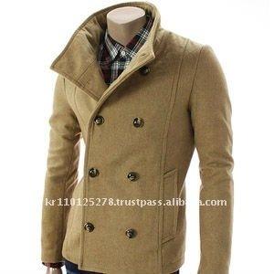 32f3d95014b3 Mens Casual Double Breasted Wool Jacket (ga06-beige) - Buy Wool ...