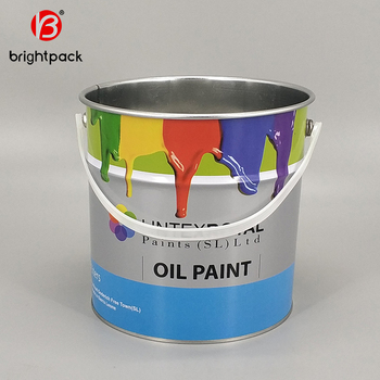 Paint Bucket 5l,For Coating Oil Ink Used Paint Tin Container/can/bucket -  Buy 4 Liter Fertilizer Packaging Drum,5 Liter Water-based Paint Drum,5l